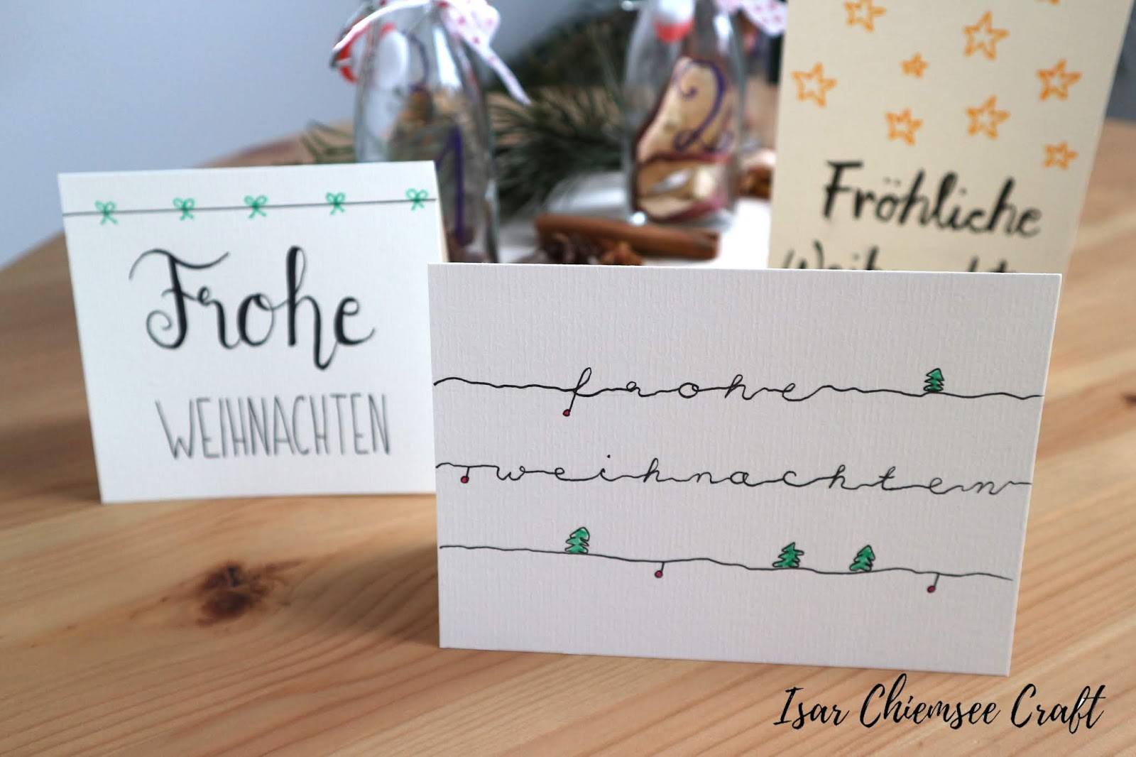 Weihnachtliche Letterings – Weihnachtskarten selbstgemacht