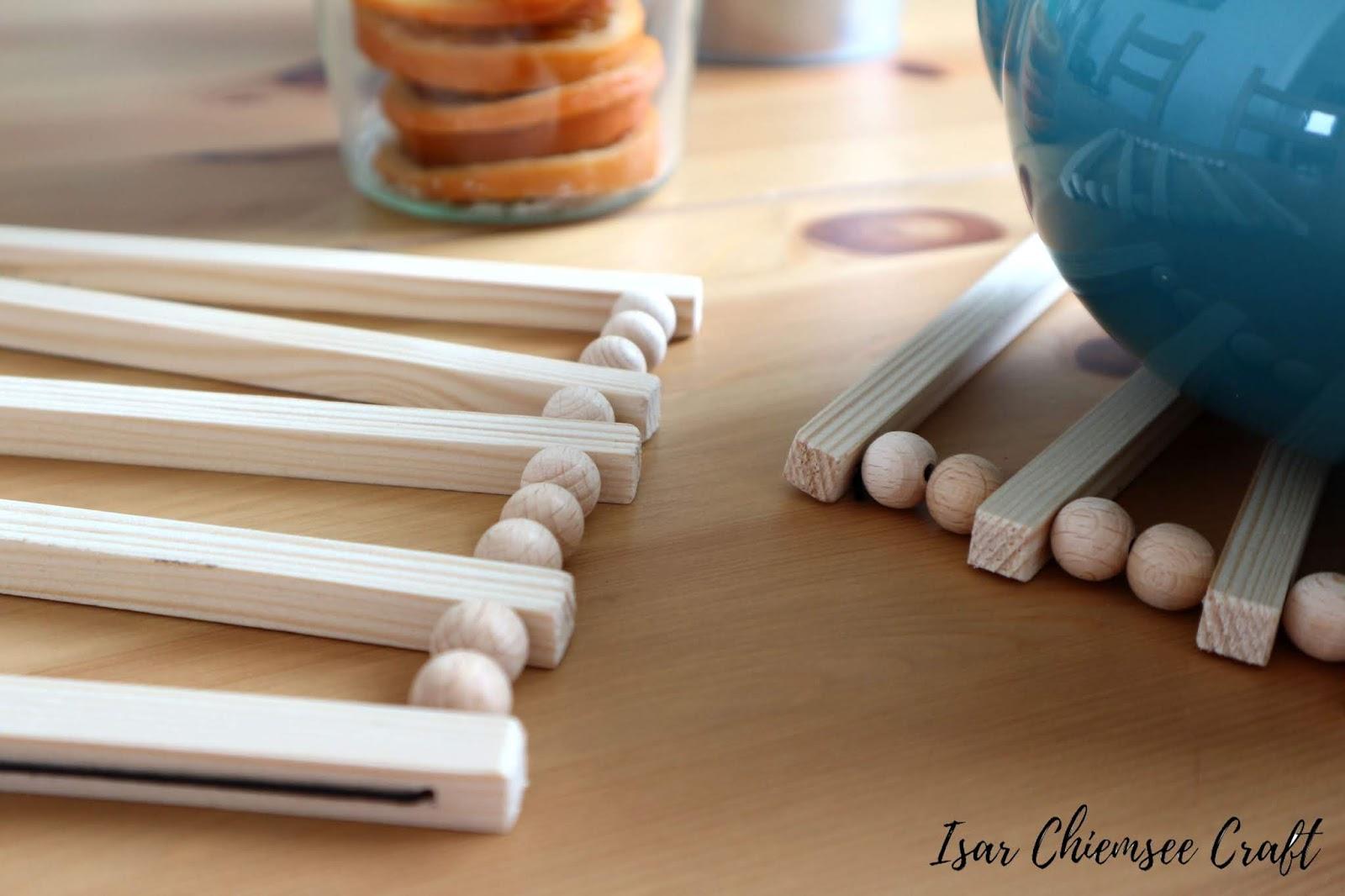 Holzkugel DIY – Untersetzer aus Holz