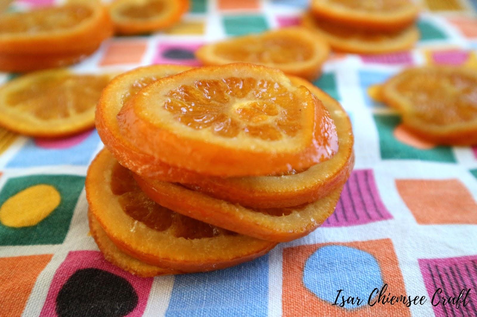 Süße kandierte Orangen