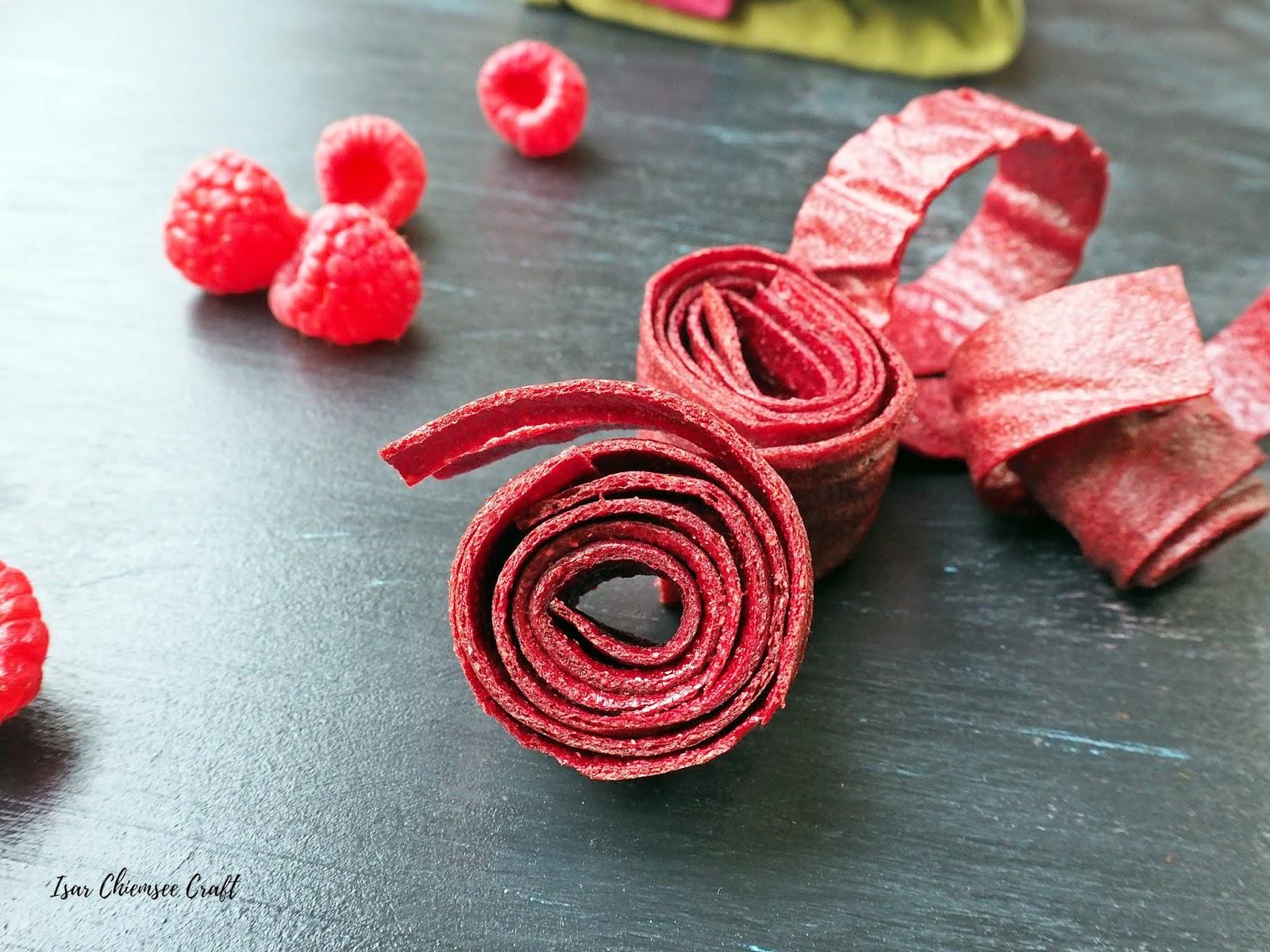 Himbeer Fruchtleder aus 2 Zutaten – die Gummibärchen Alternative