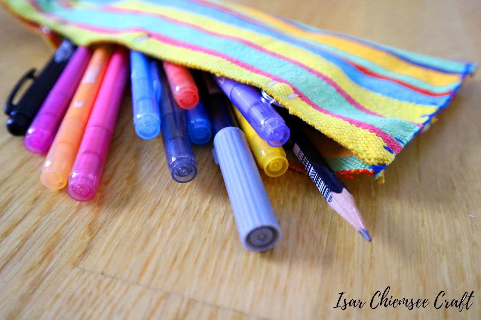 Nähen ohne Nähmaschine – Mäppchen für Stifte