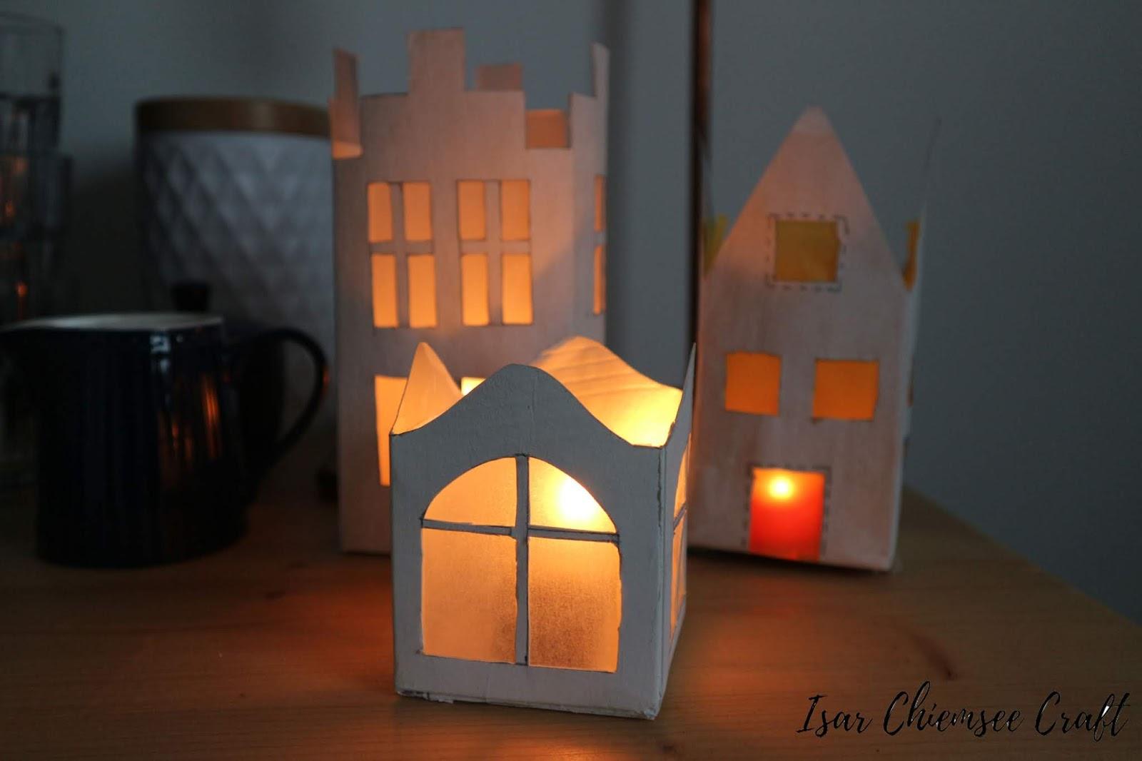 Milchtüten DIY: Lichterhäuser aus Tetrapacks