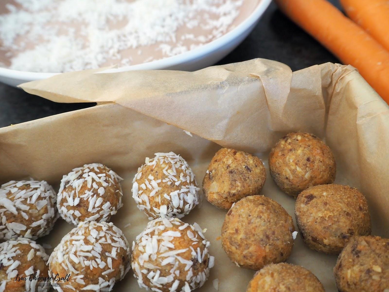 Carrot Cake Energy Balls oder auch Karottenkuchen Energiekugeln