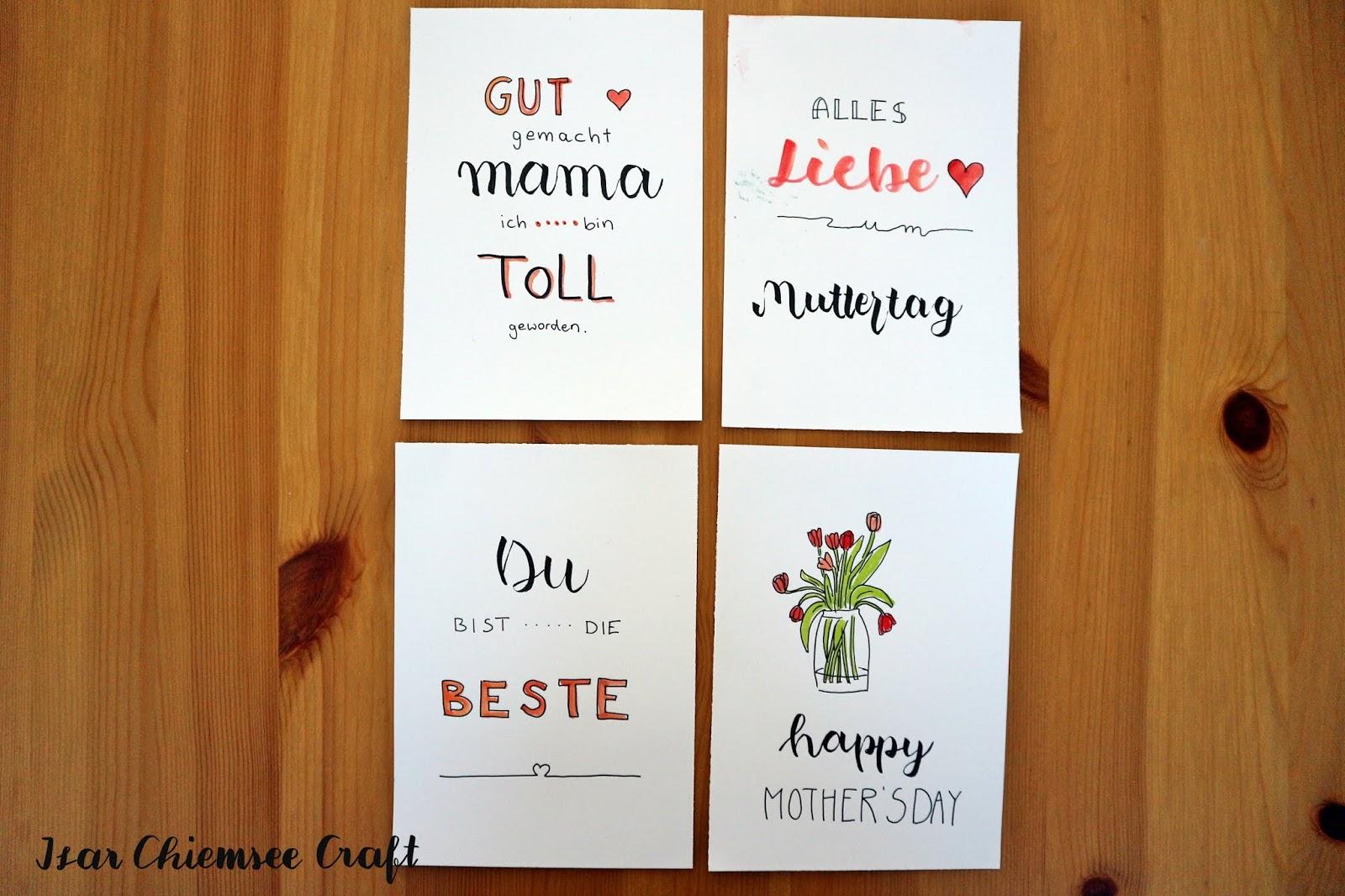 Muttertagskarte mit Handlettering gestalten