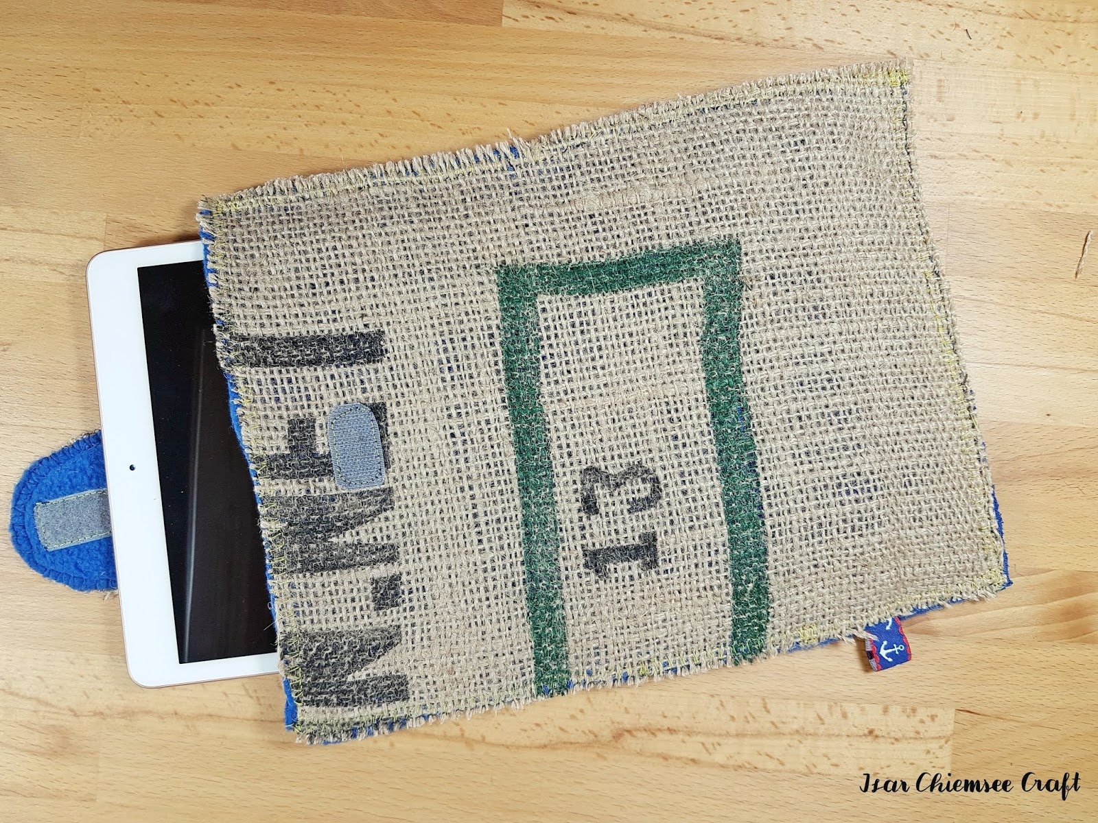 Upcycling: IPAD Cover Hülle mit Apple Pencil Halterung