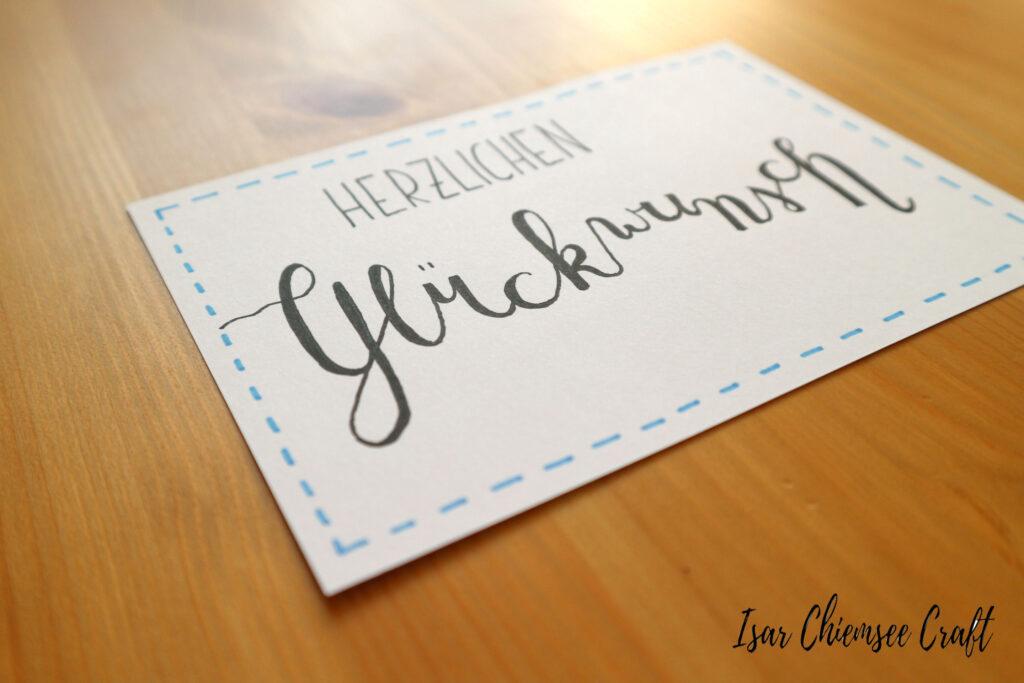 Geburtstagskarte Lettering