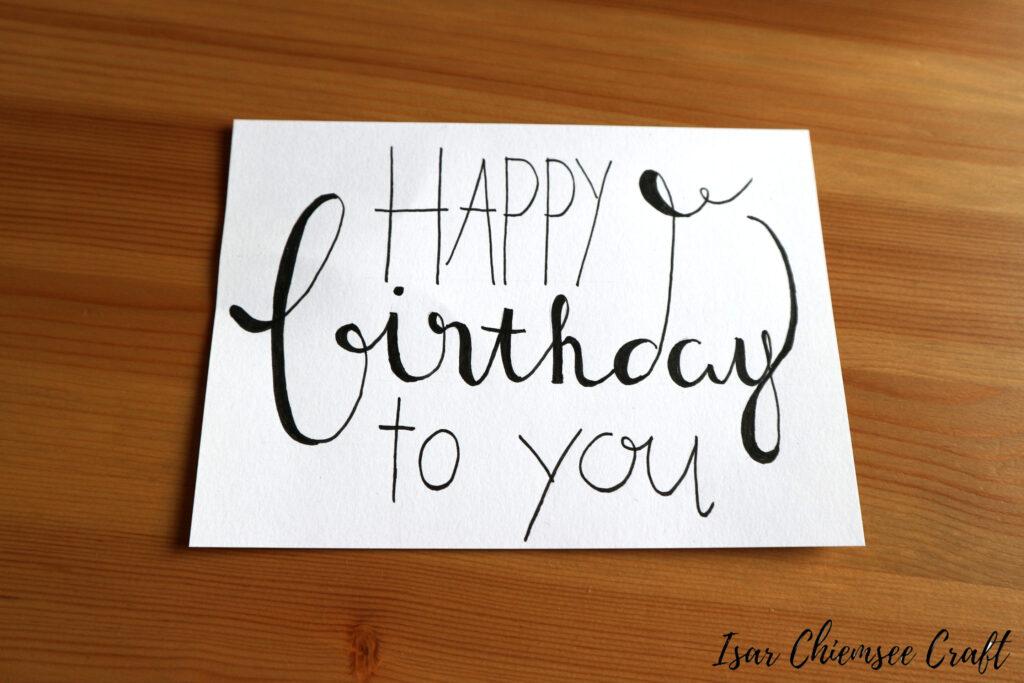 Geburtstag Lettering