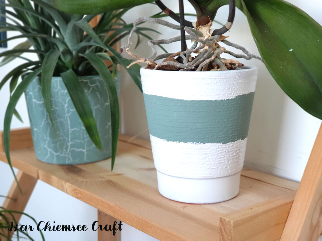 Blumentopf Kreidefarbe Upcycling DIY