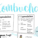 Kombucha Anleitung Sketchnote und Handlettering