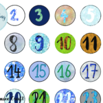digitale Lettering Zahlen für den Adventskalender