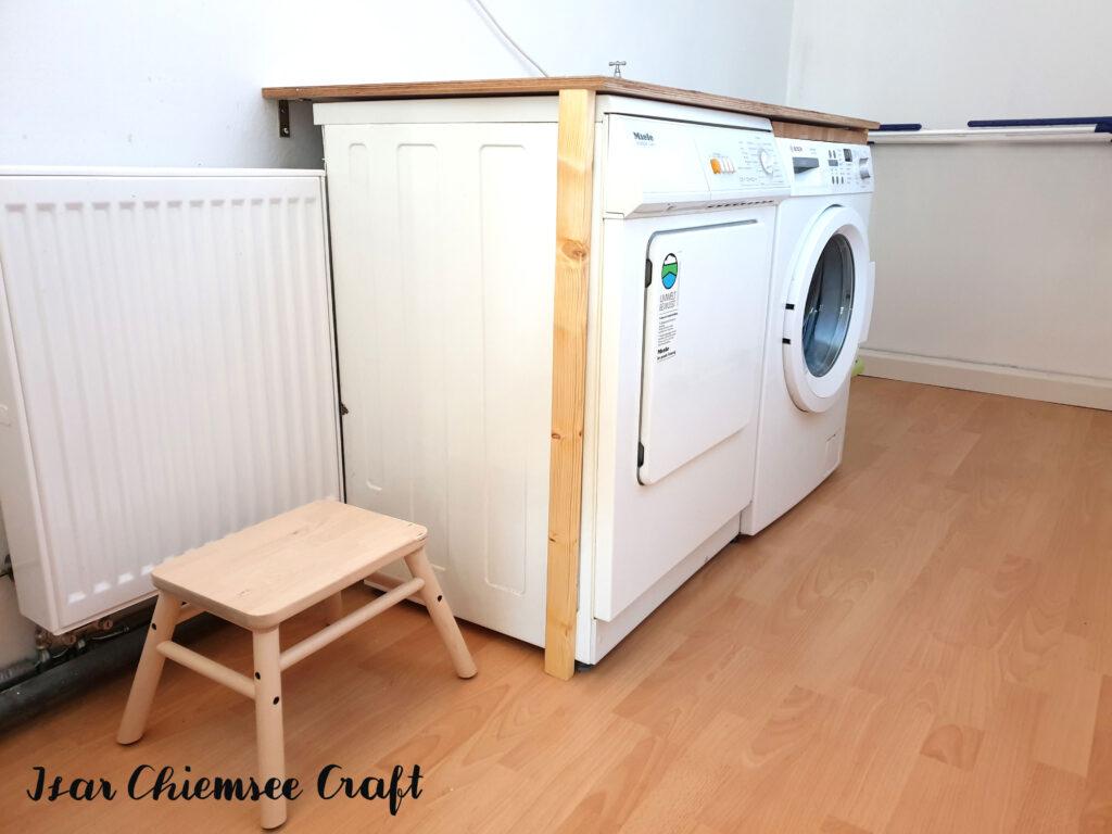 Waschmaschine Tisch Überbau