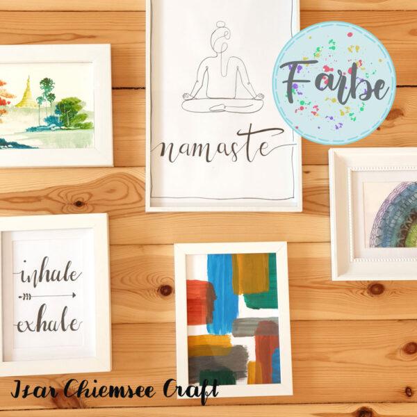 Eine individuelle Bilderwand für den Yogaraum gestalten