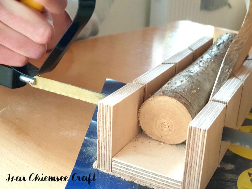 Holzscheiben sägen