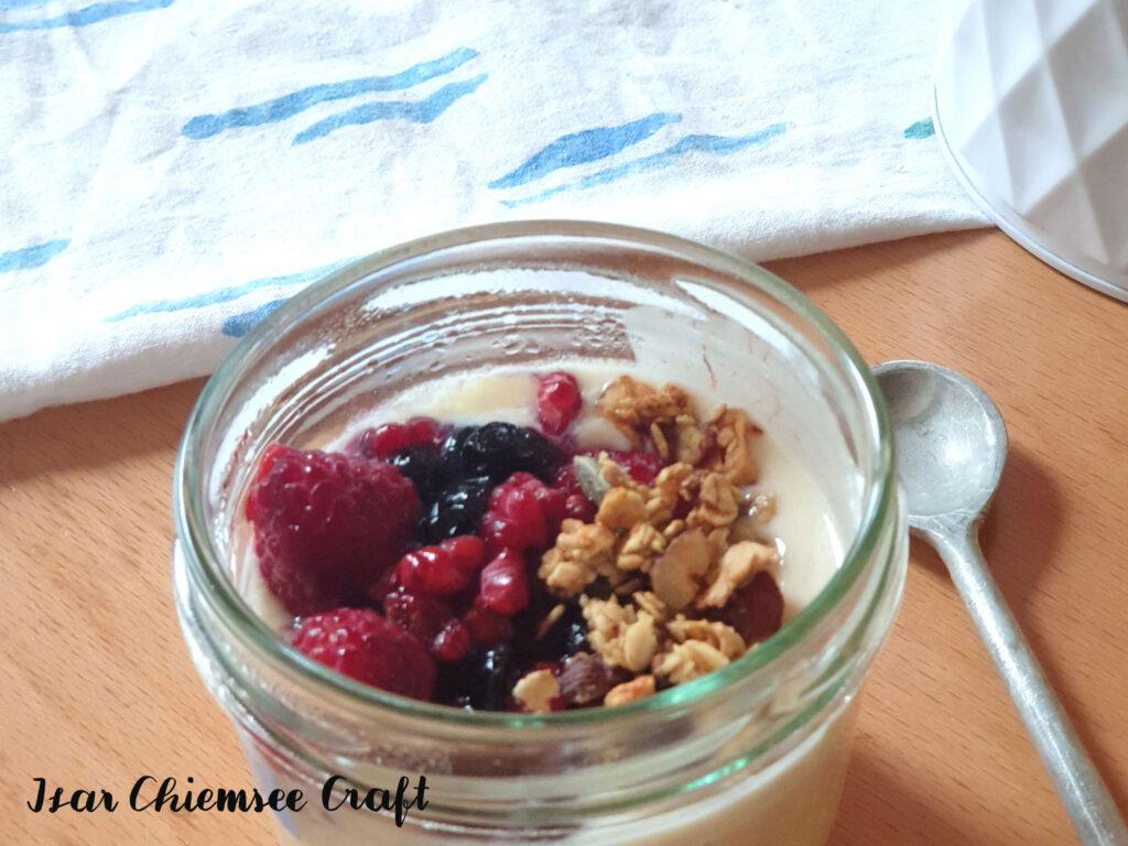 Joghurt aus Erbsenmilch